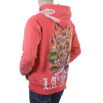 LA Airline coral Tiki zipped sweatshirt hoody LAIR1015
