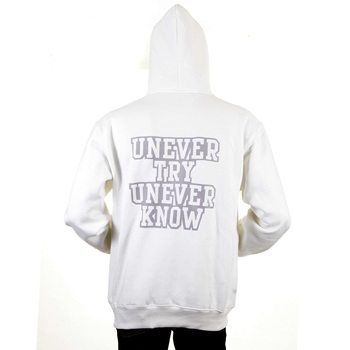 RMC Martin Ksohoh Mens Large Fit RWC141264 White Overhead Hooded Sweatshirt with UNTUNK Print REDM0894
