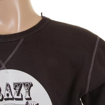 RMC Martin Ksohoh Black Crew Neck Large Fitting RWH141264 Sweatshirt for Men with Crazy Children Print REDM0929