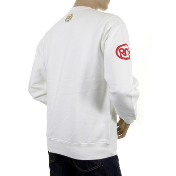 RMC Jeans Off White Crew Neck Large Fitting RWC141264 Sweatshirt With Grey on Off White UNTUNK Print REDM0649