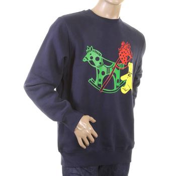 RMC Martin Ksohoh Large Fitting Navy Blue RWC141264 Crew Neck Toy Friend Printed Sweatshirt REDM0646