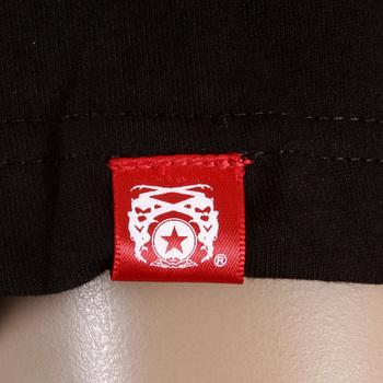 RMC Jeans Black Crewneck RQT11072 Regular Fit Short Sleeve Japanese Kamon Printed T-shirt for Men REDM0951