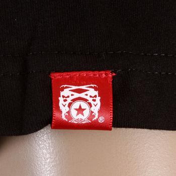 RMC Jeans Regular Fit RQT11065 Crewneck Short Sleeved Pigeon Black T-Shirt with Cream Pigeon Print REDM0982