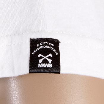 RMC Martin Ksohoh Regular Fit RQT11066 Short Sleeve Crew Neck White T Shirt with Denim Department Print REDM0997