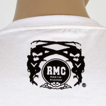RMC Martin Ksohoh Crew Neck RQT11067 Cotton Regular Fit White T-Shirt with Black FBI Print REDM0994