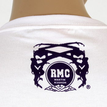 RMC Martin Ksohoh Regular Fit RQT11074 White Crew Neck Short Sleeve Kamon 2 Printed T Shirt REDM0964