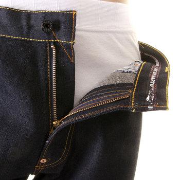 RMC Jeans Genuine Dark Indigo Vintage Cut Purple Tsunami Wave Full Back Embroidered Raw Denim Jeans REDM1773