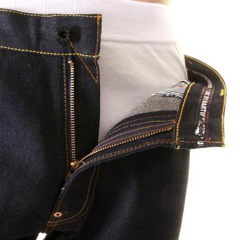 RMC Jeans Authentic Vintage Cut Red Full Back Embroidered Tsunami Wave Dark Indigo Raw Denim Jeans REDM1774