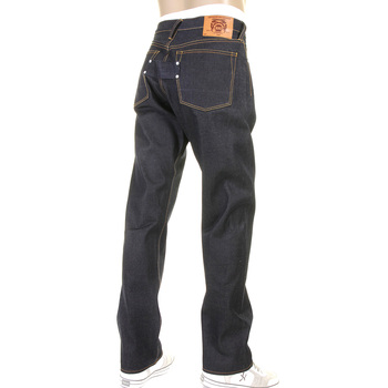 RMC Martin Ksohoh Super Exclusive Raw Unwashed Vintage 1002 Fit Dry Denim Jeans in Dark Indigo REDM2275