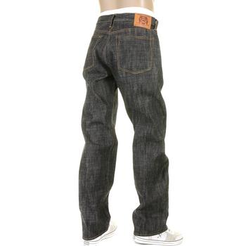 RMC Martin Ksohoh Super Exclusive Raw Selvedge Vintage Cut 1002 Black Denim Jeans for Men REDM2277