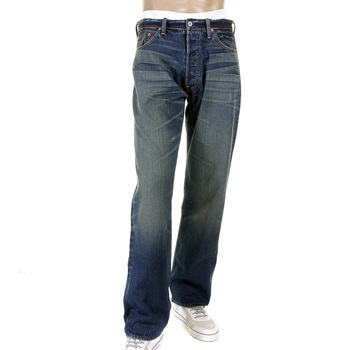 RMC Martin Ksohoh Heavy Whiskered and Faded Selvedge Denim Jeans with Vintage Light Wash REDM2284