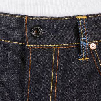 RMC Jeans Slimmer Cut 1001 Model Dark Indigo 888 R&R and Tsunami Wave Embroidered Raw Denim Jeans REDM5037