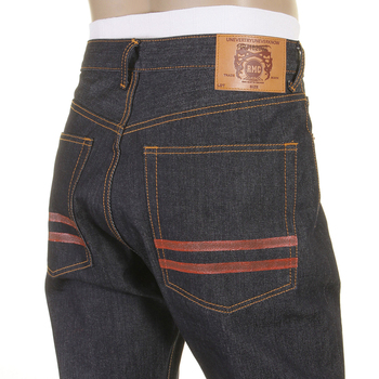 RMC Martin Ksohoh Slim cut jean red hand painted RMC 1001 model jeans REDM5646