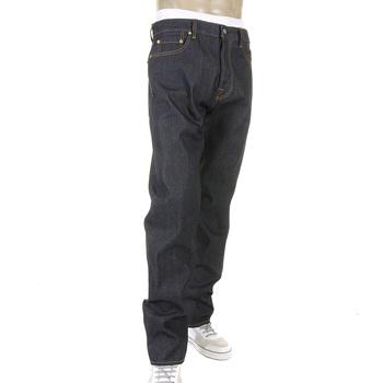 RMC Jeans Slim Cut 1001 Model Yellow Hand Painted Mens Super Exclusive Dark Indigo Raw Denim Jeans REDM5648