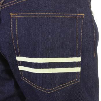 RMC Martin Ksohoh Off White Hand Painted Mens 1001 Model Slim Fit Dark Indigo Selvedge Raw Denim Jeans REDM5652