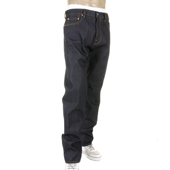 RMC Martin Ksohoh Super Exclusive Sky Hand Painted Dark Indigo Slim Cut 1001 Model Raw Mens Denim Jeans REDM5656