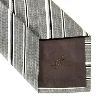 Boss Black pale grey striped Hugo Boss silk tie 50219056 BOSS0629