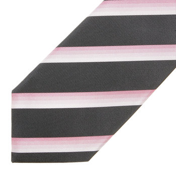 Boss Black grey with pink striped Hugo Boss silk tie 50219179 BOSS0634