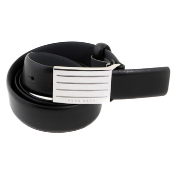 Boss Black Euseo 50186416 black leather Hugo Boss belt BOSS0828