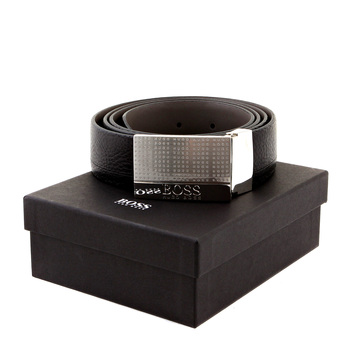 Boss Black Otano 50206890 reversable black leather Hugo Boss boxed belt BOSS0834