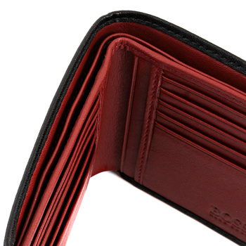 Boss Black Salve 50195636 black leather Hugo Boss wallet BOSS0836