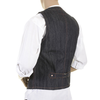 Sugarcane Vintage Cut SC12242N Fiction Romance Regular Fit Non Wash Denim Work Vest CANE1075