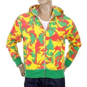 RMC Martin Ksohoh yellow camo zipped hooded sweatshirt REDM1020