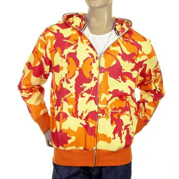 RMC Martin Ksohoh orange camo zipped hooded sweatshirt REDM1022