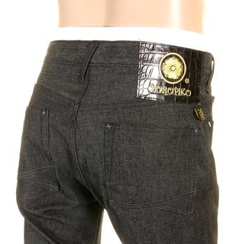 Yoropiko by Martin Yat Ming Super Exclusive Slim Fit Black Stretch Denim Jeans YORO0468