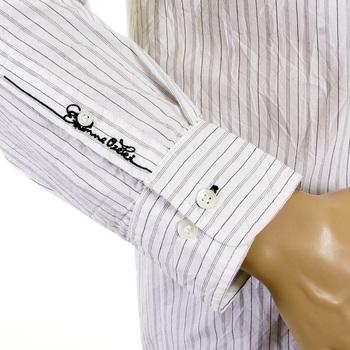 Etienne Ozeki chalk white striped shirt ETIE1809