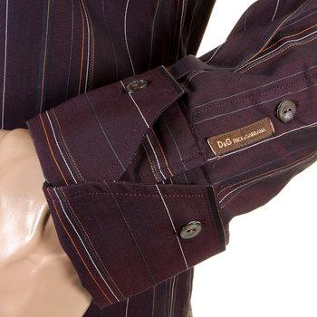 D&G Dolce & Gabbana aubergine striped shirt DGM1189