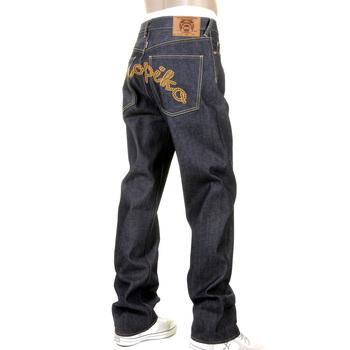 RMC Jeans X Yoropiko Raw RQP11090 Selvedge Indigo Denim Jeans with Chain Stitch Embroidery REDM1210