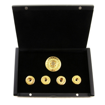 Yoropiko 18 Carat Gold Rhodium Plated Button Set by Martin Yat Ming with Gift Box  YORO2394