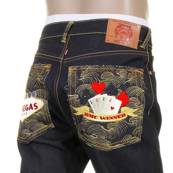 RMC Jeans Super Exclusive Las Vegas Slimmer Cut 1001 Model Unwashed Dark Indigo RMC Winner Raw Denim Jeans RMC1218