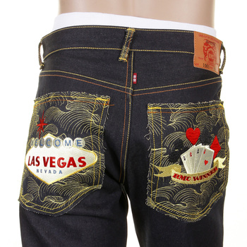 RMC Jeans Super Exclusive Las Vegas Slimmer Cut 1001 Model Unwashed Dark Indigo RMC Winner Raw Denim Jeans RMC1218