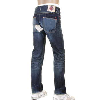 RMC Jeans RQO11095 Original Red Remade Indigo Selvedge Washed Vintage Finished Denim Jeans REDM1207