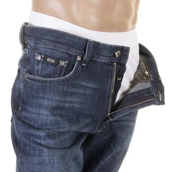 Boss Black jeans Texas 50207547 420 washed blue Hugo Boss denim jean BOSS2495
