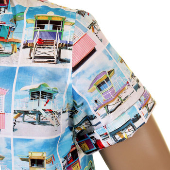 Evisu Azzure Regular Fit Short Sleeve Overhead Shirt with Soft Cuban Collar EVIS7911