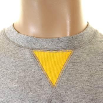 Evisu Genuine Rare Mens Crew Neck Evisuzuki Printed Long Sleeve Grey T-shirt EVIS1117