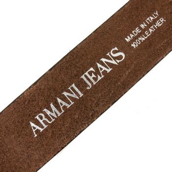 Armani Jeans chocolate brown casual leather belt R6110 ZA AJM0356