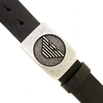 Armani Jeans black leather belt R6119 ZJ AJM0358