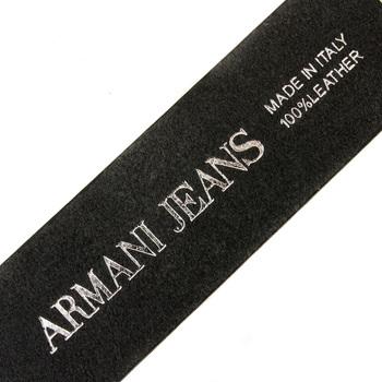 Armani Jeans black leather casual belt R6101 ZA AJM0359