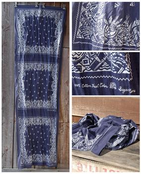 Sugar Cane blue bandana SC01967 stole scarf CANE2013