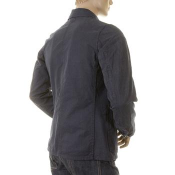 Sugarcane Navy Vintage Cut SC12455 Pinstriped Regular Fit Work Jacket for Men CANE2016