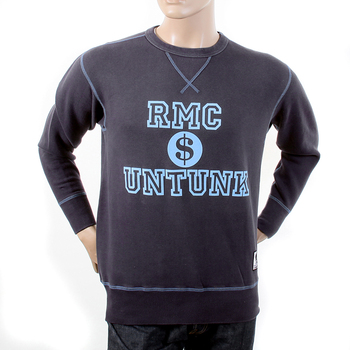RMC Martin Ksohoh Washed Navy Regular Fit RWH141263 Crewneck Dollar UNTUNK Sweatshirt for Men REDM1034