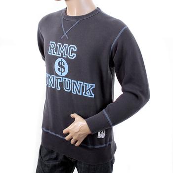 RMC Martin Ksohoh Regular Fitting RWH141263 Washed Navy Crewneck Sweatshirt with Dollar UNTUNK Print REDM1034