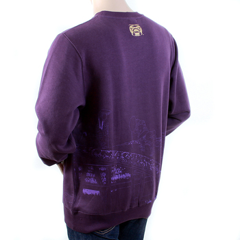 RMC Martin Ksohoh Regular Fitting RWH141162 Crew Neck Purple Sweatshirt with Toyo Story Bridge Print REDM1066