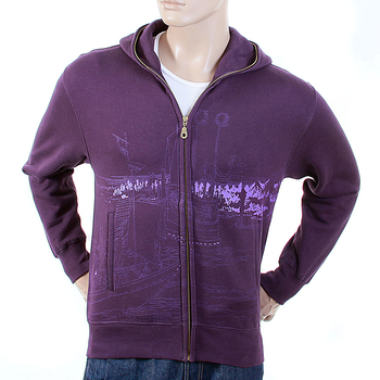 RMC Martin Ksohoh Regular Fit Purple RJK141162 Toyo Story Bridge Hooded Sweatshirt for Men REDM1068