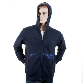 RMC Jeans Regular Fitting RJK141162 Zipped Front Hooded Navy Sweatshirt with Toyo Story Bridge Print REDM1069