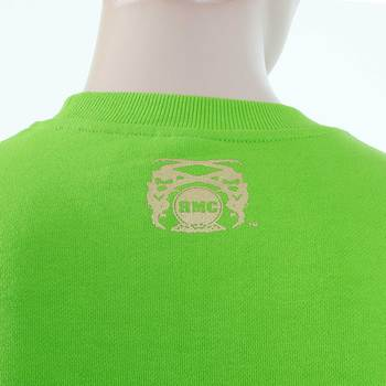 RMC Martin Ksohoh RWC141262 Lime Green Freedom Crane Large Fitting Crew Neck Sweatshirt REDM1032